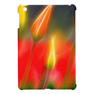 Funda Para iPad Mini Resplandor rojo y amarillo del tulipán