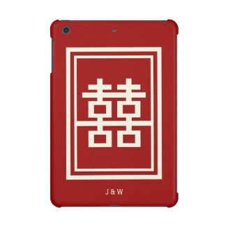 Funda Para iPad Mini Retina Boda chino rojo de la felicidad doble del