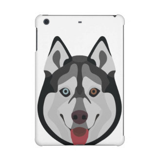 Funda Para iPad Mini Retina El ilustracion persigue el husky siberiano de la