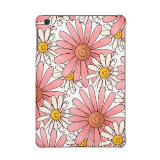 Funda Para iPad Mini Retina Margaritas rosadas femeninas y margaritas blancas