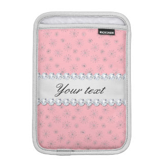 Funda Para iPad Mini Rosa de plata elegante de los copos de nieve del