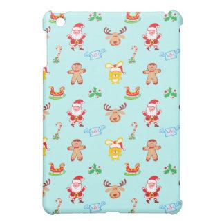 Funda Para iPad Mini Santa, el reno, el conejito y la galleta sirven el