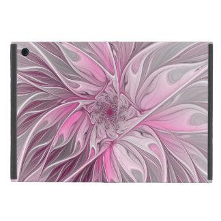 Funda Para iPad Mini Sueño rosado de la flor del fractal, modelo floral