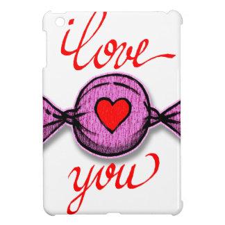 Funda Para iPad Mini Te amo (caramelo rosado)