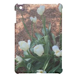 Funda Para iPad Mini Tipo blanco como la nieve flores del tulipán en un