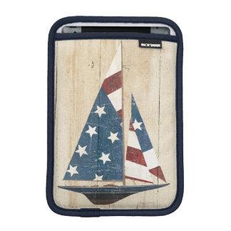 Funda Para iPad Mini Velero con la bandera americana