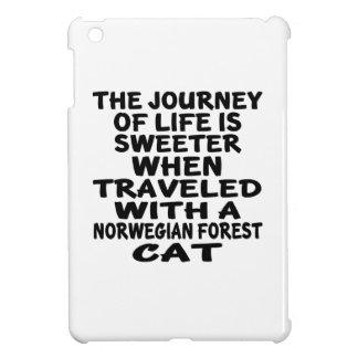 Funda Para iPad Mini Viajado con el gato noruego del gato del bosque