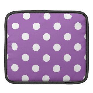 Funda Para iPad Modelo de lunar púrpura y blanco