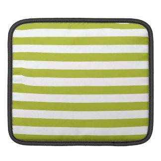 Funda Para iPad Modelo verde y blanco de la raya