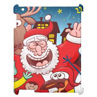 Funda Para iPad Papá Noel y su equipo están listos para el navidad