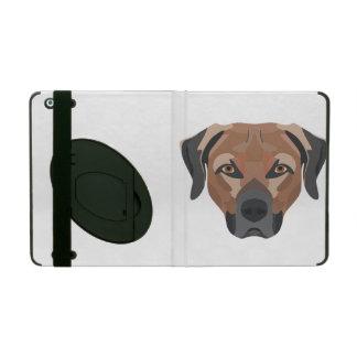 Funda Para iPad Perro Brown Labrador del ilustracion