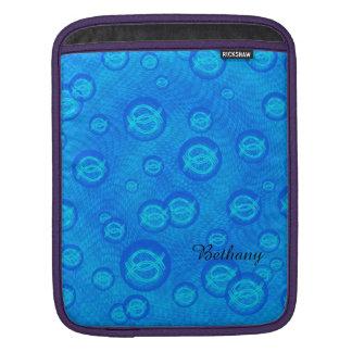Funda Para iPad Pescados de Jesús en burbujas azules