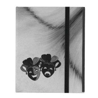 Funda Para iPad Plata de las máscaras del bufón del teatro de la