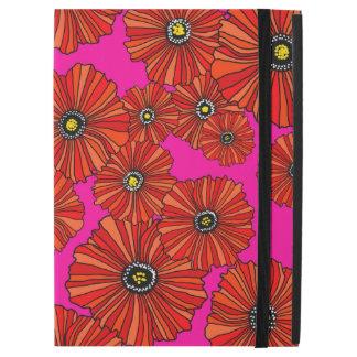 """Funda Para iPad Pro 12.9"""" Amapolas calientes rosa y caso 12,9 del iPad"""
