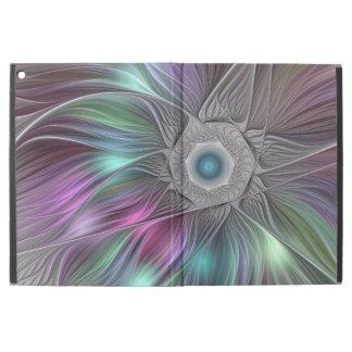 """Funda Para iPad Pro 12.9"""" Arte moderno del fractal del extracto colorido del"""