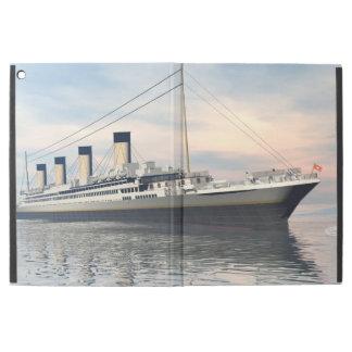 "Funda Para iPad Pro 12.9"" boat_titanic_close_water_waves_sunset_pink_standar"