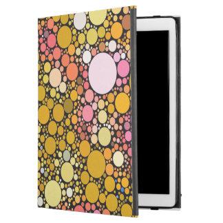 "Funda Para iPad Pro 12.9"" Burbujas de Zazzy, naranja"