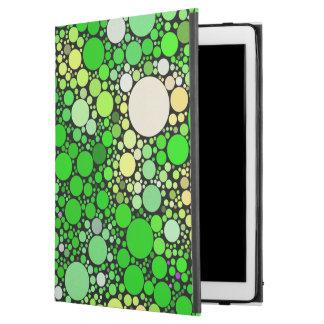 """Funda Para iPad Pro 12.9"""" Burbujas de Zazzy, verdes"""