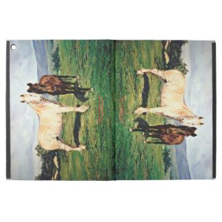 """Funda Para iPad Pro 12.9"""" Caballos/Cabalos/Horses"""