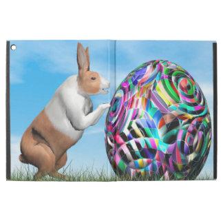 """Funda Para iPad Pro 12.9"""" Conejo que empuja el huevo de Pascua - 3D rinden"""