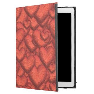"""Funda Para iPad Pro 12.9"""" Corazones brillantes de color rojo oscuro"""