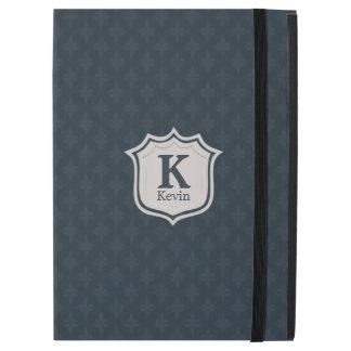 """Funda Para iPad Pro 12.9"""" El monograma de los azules marinos de los hombres"""