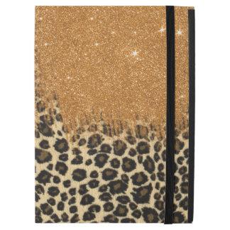 """Funda Para iPad Pro 12.9"""" Falsas pinceladas del brillo del leopardo y del"""