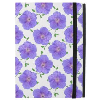 """Funda Para iPad Pro 12.9"""" Flor azul del geranio del jardín en cualquier"""