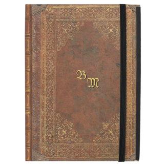 """Funda Para iPad Pro 12.9"""" Mirada antigua del libro con sus iniciales"""