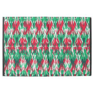 """Funda Para iPad Pro 12.9"""" Modelo azteca abstracto verde rojo lindo"""