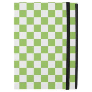 """Funda Para iPad Pro 12.9"""" Modelo del tablero de damas del verde amarillo"""