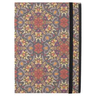 """Funda Para iPad Pro 12.9"""" Modelo floral étnico abstracto colorido de la"""