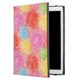 """Funda Para iPad Pro 12.9"""" Rosa amarillo rojo del estampado de flores"""