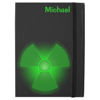"""Funda Para iPad Pro 12.9"""" Símbolo verde divertido de la radiactividad que"""