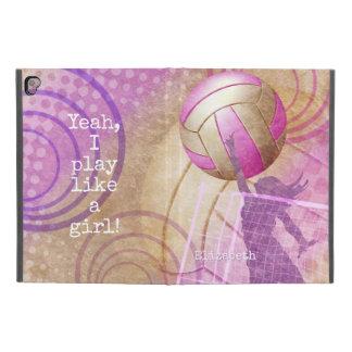 """Funda Para iPad Pro 9.7"""" Juego como un voleibol de las mujeres del chica"""