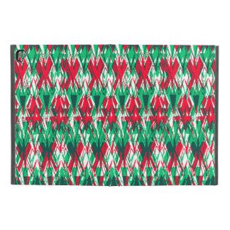 """Funda Para iPad Pro 9.7"""" Modelo azteca abstracto verde rojo lindo"""