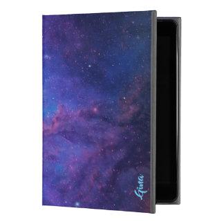 """Funda Para iPad Pro 9.7"""" Púrpura y azul del fondo del extracto del espacio"""
