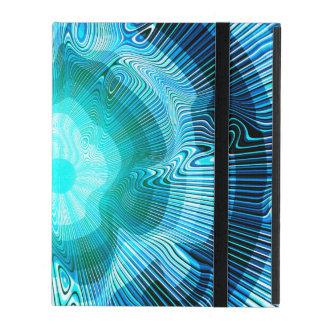 Funda Para iPad Psicodélico espiral azul