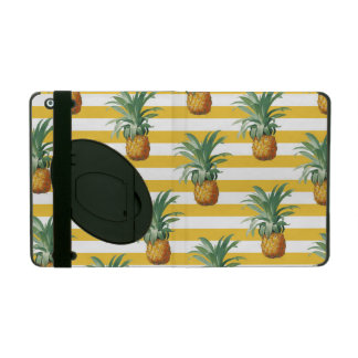 Funda Para iPad rayas amarillas de los pinepples