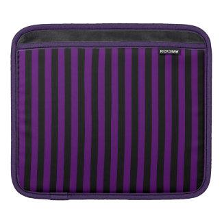 Funda Para iPad Rayas finas - negras y violeta oscura