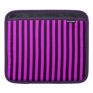 Funda Para iPad Rayas finas - negro y fucsia