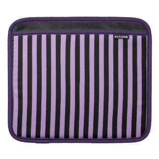Funda Para iPad Rayas finas - negro y glicinias