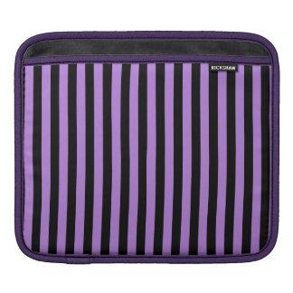 Funda Para iPad Rayas finas - negro y lavanda