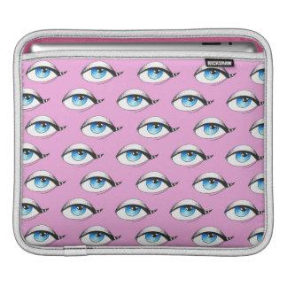 Funda Para iPad Rosa del modelo de ojos azules