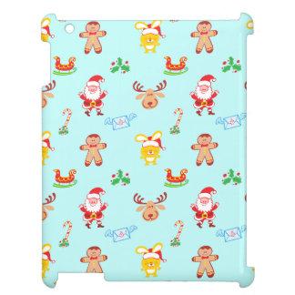 Funda Para iPad Santa, el reno, el conejito y la galleta sirven el