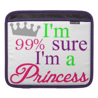 "Funda Para iPad ""Soy el 99% seguro yo soy princesa"" manga"