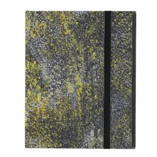 Funda Para iPad Tinta blanco y negro en fondo amarillo