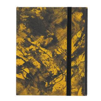 Funda Para iPad Tinta negra en fondo amarillo