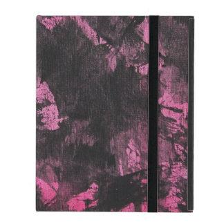 Funda Para iPad Tinta negra en fondo rosado
