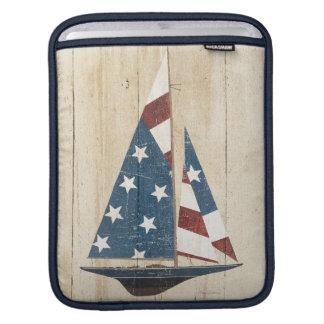 Funda Para iPad Velero con la bandera americana